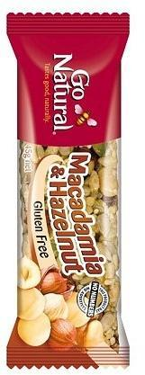 Go Natural Savoury Macadamia & Hazelnut Bar 16x45g-Health Tree Australia