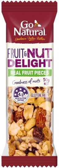 Go Natural Fruit & Nut Delight Bar 16x50g