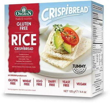 Orgran Toasted Rice Crispibread 125g-Health Tree Australia
