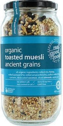 Real Good Foods Org Toasted Muesli Ancient Grains G/F Jar 400g-Health Tree Australia