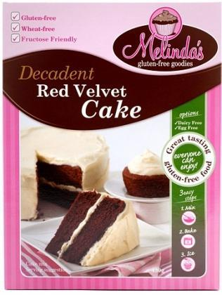 Melindas Red Velvet Cake Mix G/F 430g