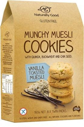 Naturally Good Munchy Muesli Cookie Vanilla 160g-Health Tree Australia