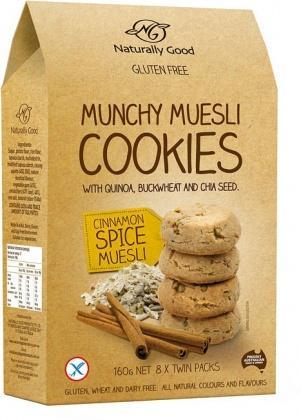 Naturally Good Munchy Muesli Cookie Cinnamon 160g-Health Tree Australia