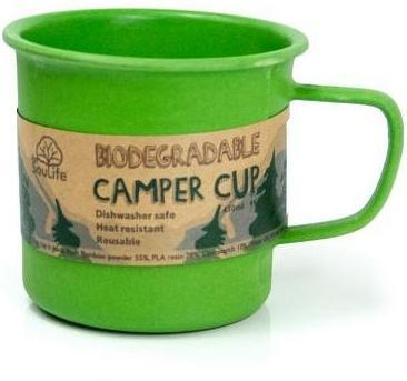 EcoSouLife Bamboo Camper Cup Green 430ml-Health Tree Australia