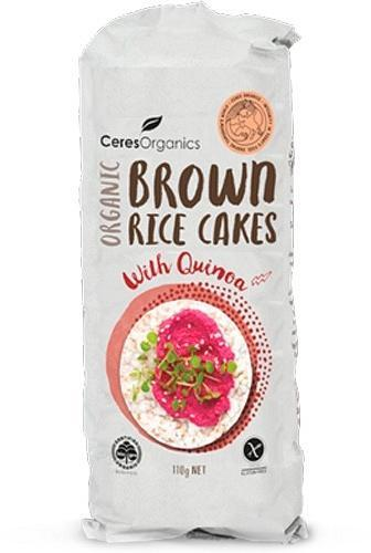 Ceres Organics Organic Brown Rice Cakes with Quinoa 110g New