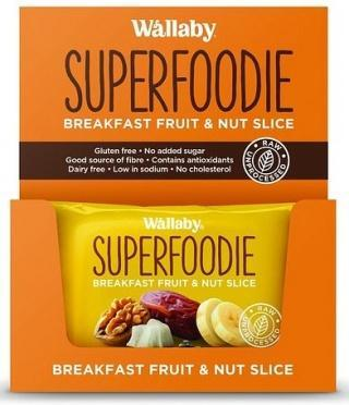 Wallaby Superfoodie Banana Coconut Walnut Chia Slice G/F 8x48g