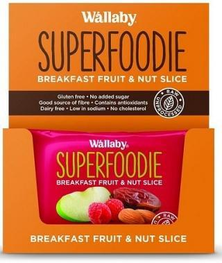 Wallaby Superfoodie Apple Raspberry Slice G/F 8x48g-Health Tree Australia