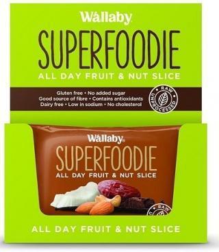 Wallaby Superfoodie Cappuccino Cacao Slice G/F 8x48g-Health Tree Australia