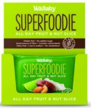Wallaby Superfoodie Coconut Lime Slice G/F 8x48g-Health Tree Australia