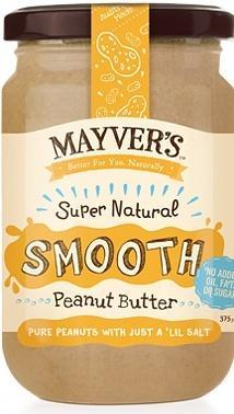 Mayvers Super Natural Smooth Peanut Butter G/F 375g