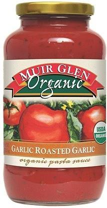 Muir Glen Pasta Sauce Roasted Garlic Org 723gm