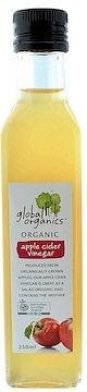 Global Organics Apple Cider Vinegar G/F 250ml-Health Tree Australia