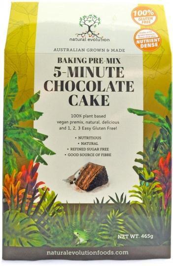 Natural Evolution Baking Pre-Mix 5-Minute Chocolate Cake G/F 465g