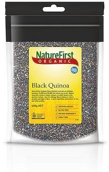 Natures First Organic Quinoa Grain Black G/F 600g-Health Tree Australia