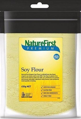 Natures First Organic Soy Flour 450g-Health Tree Australia
