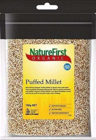 Natures First Organic G/F Puffed Millet 150g-Health Tree Australia