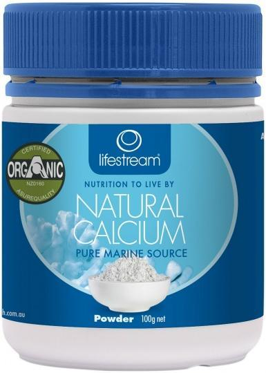Lifestream Natural Calcium Powder 100g-Health Tree Australia