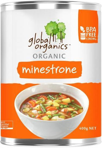 Global Organics Organic Minestrone Soup 400g-Health Tree Australia