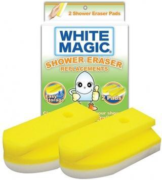 White Magic Shower Eraser Sponge Refill 2Pk - 15x7x4cm-Health Tree Australia