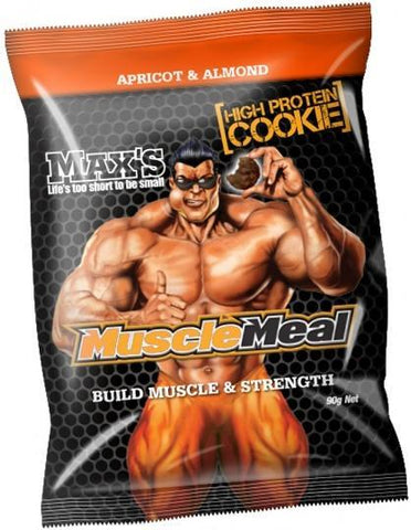 Max's Muscle Meal Cookie Apricot Almond 12x90g-Health Tree Australia