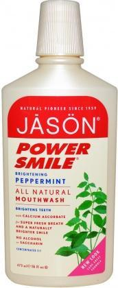 Jason Powersmile Brightening Mouthwash Peppermint 473ml-Health Tree Australia