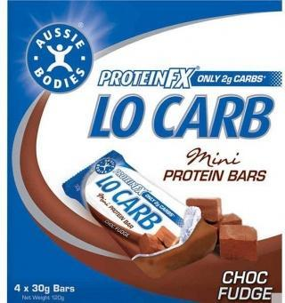 Aussie Bodies Lo Carb Mini Multi-pk ChocFudge 4x30g-Health Tree Australia