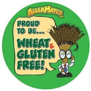 AllerMates Proud To Be Wheat-Gluten Free Stickers - 24 Pack-Health Tree Australia