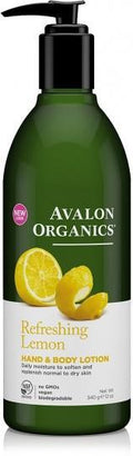 Avalon Organics Refreshing Lemon Hand & Body Lotion 340g