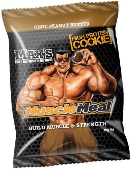 Max's Muscle Meal Cookie Choc Peanut Butter 12x90g-Health Tree Australia