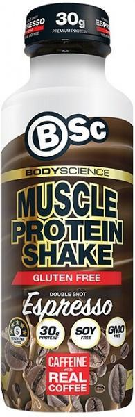 BSc RTD Muscle Protein Shake Double Shot Espresso G/F 450ml