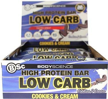 Bsc High Protein Bar Cookies & Cream 8x60g-Health Tree Australia