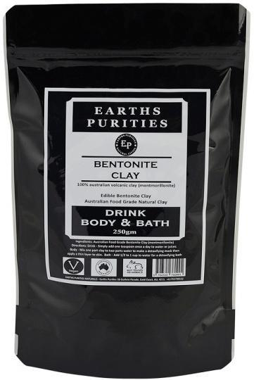 Earths Purities Bentonite Clay Drink Bath & Body 250g-Health Tree Australia