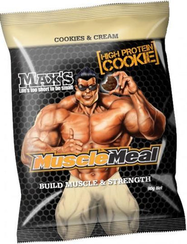 Max's Muscle Meal Cookie Cookies & Cream 12x90g-Health Tree Australia