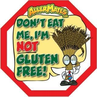 AllerMates Dont Eat Me Im Not Gluten Free Labels - 24 Pack - Health Tree Australia