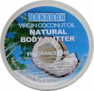 Banaban Extra Virgin Coconut Oil Natural Body Butter (FFree) 250g-Health Tree Australia