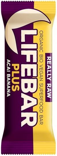 Lifebar Organic Plus Acai Banana G/F 15x47g-Health Tree Australia