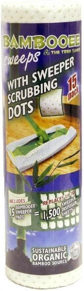 Bambooee Reusable Bamboo Sweeps Roll with Scrubbing Dots 15 Single Sheets