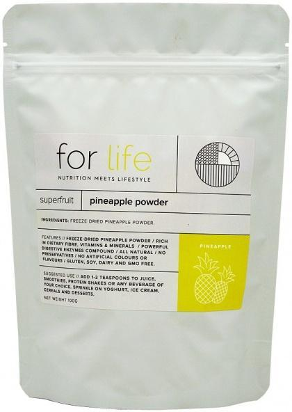 For Life Pineapple Powder 100g New