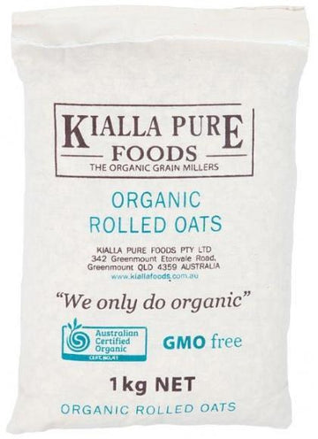 Kialla Organic Rolled Oats 1Kg New