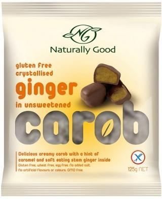 Naturally Good Carob And Ginger W/F G/F 125gm