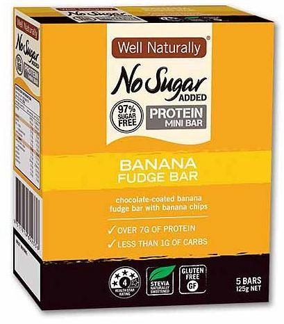 Well,naturally Hi Pro MiniBars Banana Fudg25gx5Bar-Health Tree Australia