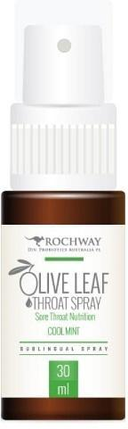 Rochway Olive Leaf Coolmint Throat Spray 30ml