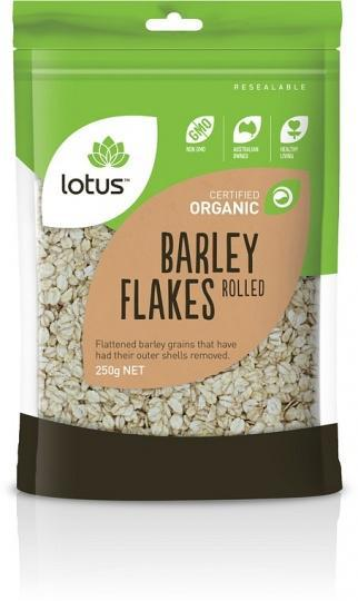 Lotus Organic Barley Flakes 250gm