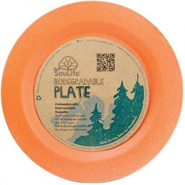 EcoSouLife Bamboo (D19.5 x H1.4cm) Side Plate Orange-Health Tree Australia