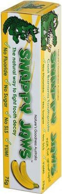 Snappy Jaws Kids Toothpaste 75g Cool Banana-Health Tree Australia