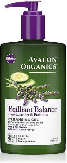 Avalon Organics Brilliant Balance Cleansing Gel with Lavender 237ml-Health Tree Australia
