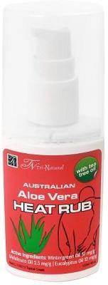 Tri-Natural Heat Rub Aloe Vera/Ti- Tree 120ml-Health Tree Australia