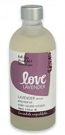 Love Oils Lavender Water Soluble Lavender Oil 100ml-Health Tree Australia