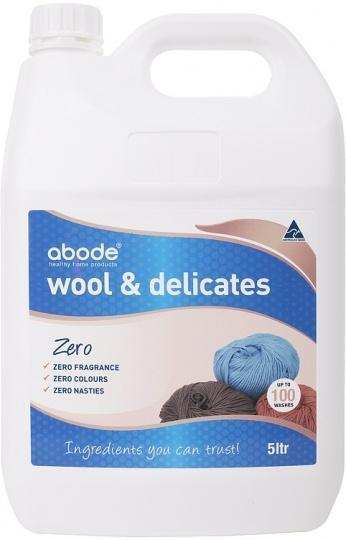 Abode Wool Wash ZERO Fragrance Free 5L