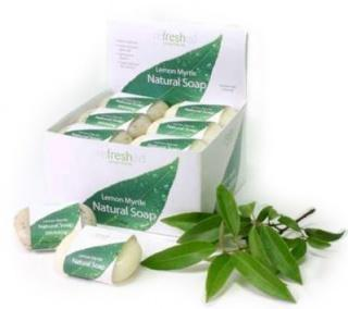 ReFresh Byron Bay Lemon Myrtle Soap Exfoliate 100gx24 CDU-Health Tree Australia
